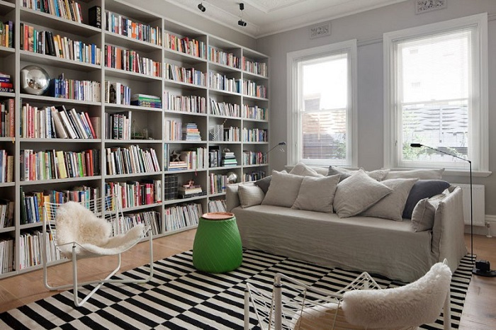 Mẫu 30 bố trí không gian phòng sách cho gia đình
