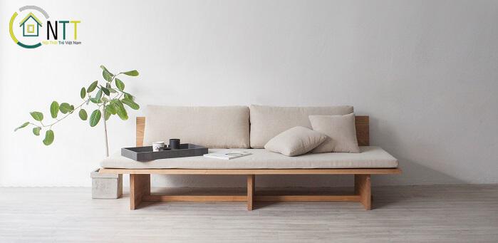 Mẫu 31 - Sofa văng gỗ hiện đại