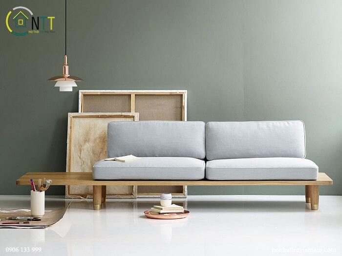 Mẫu 32 - Sofa băng gỗ hiện đại