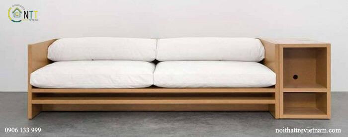 Mẫu 33 - Sofa văng gỗ hiện đại