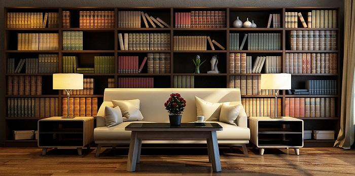 Mẫu 4 mẫu thiết kế phòng đọc sách