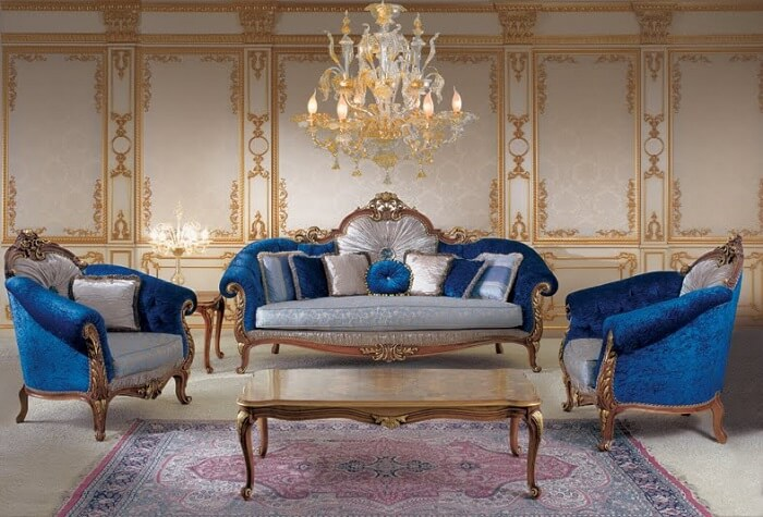 Phòng khách phong cách cổ điển đẹp Victorian