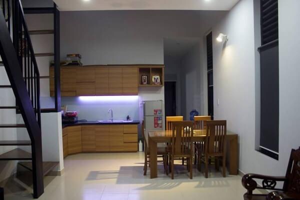 Bếp gỗ công nghiêp MFC - nội thất nhà cấp 4