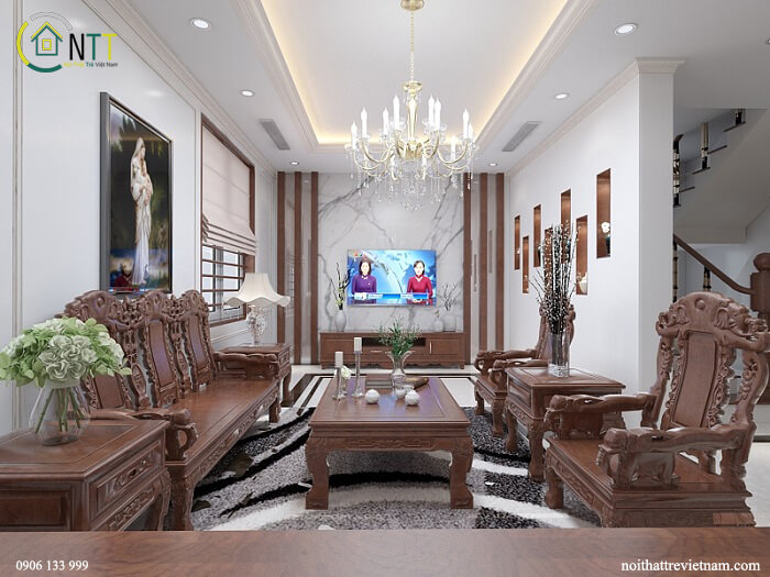 thiết kế nội thất biệt thự 3 tầng