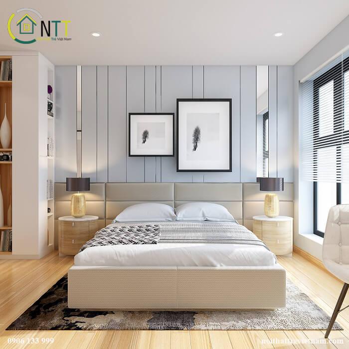 Mẫu giường ngủ gỗ công nghiệp