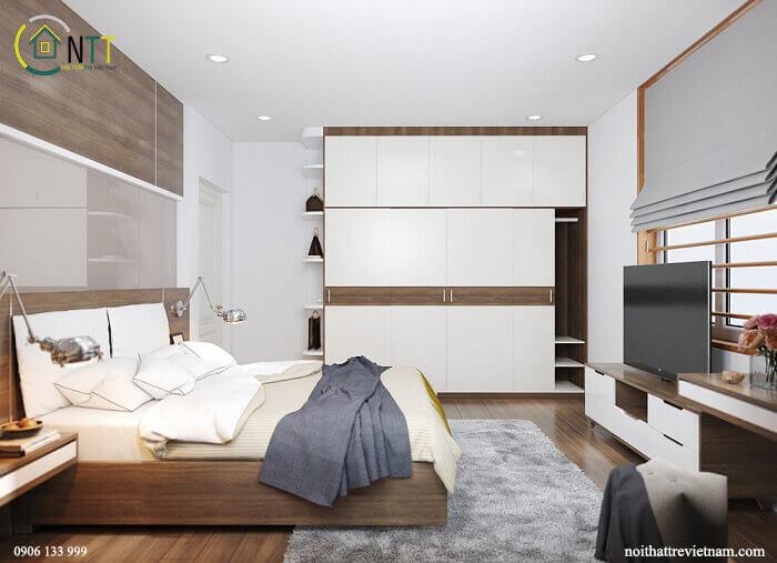 Giường ngủ gỗ công nghiệp tại Hà Nội