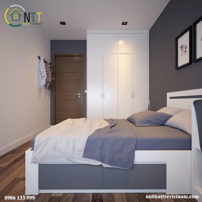 Giường hộp gỗ công nghiệp