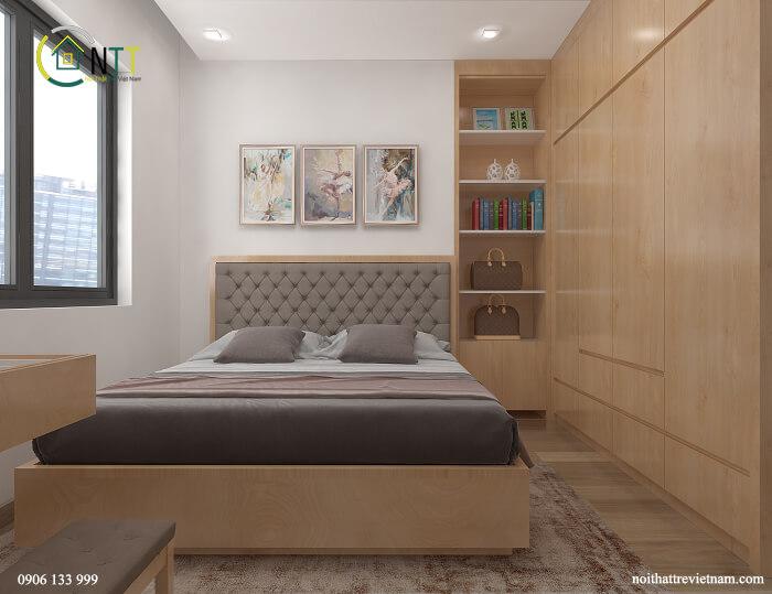 Mẫu giường tủ gỗ công nghiệp