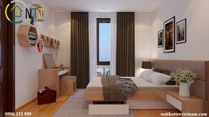 Đóng giường gỗ công nghiệp