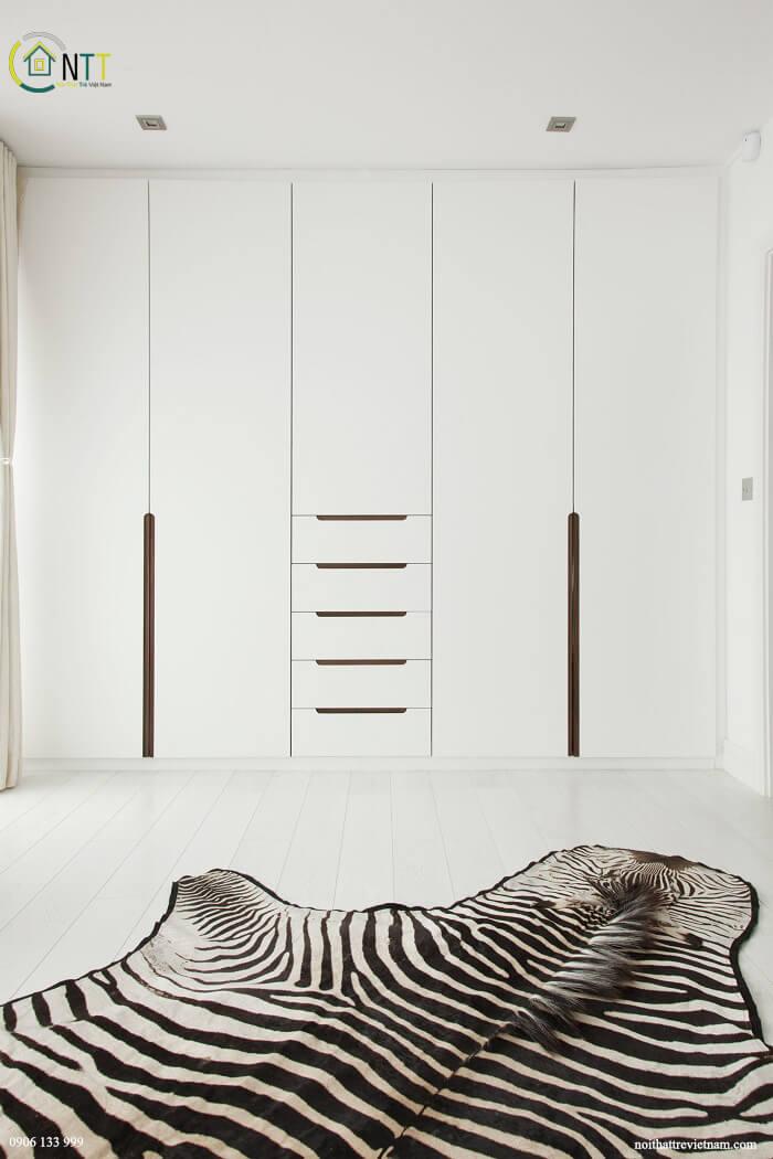 Mẫu 17 - Tủ quần áo âm tường theo phong cách hiện đại