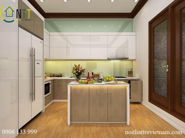 Tủ bếp chất liệu Acrylic