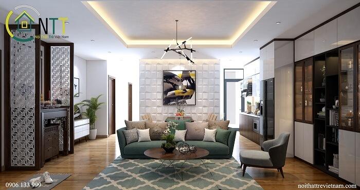 Mẫu 22 -  Bộ sofa nỉ phòng khách