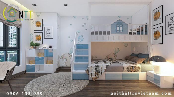 Mẫu 22 giường tầng trẻ em