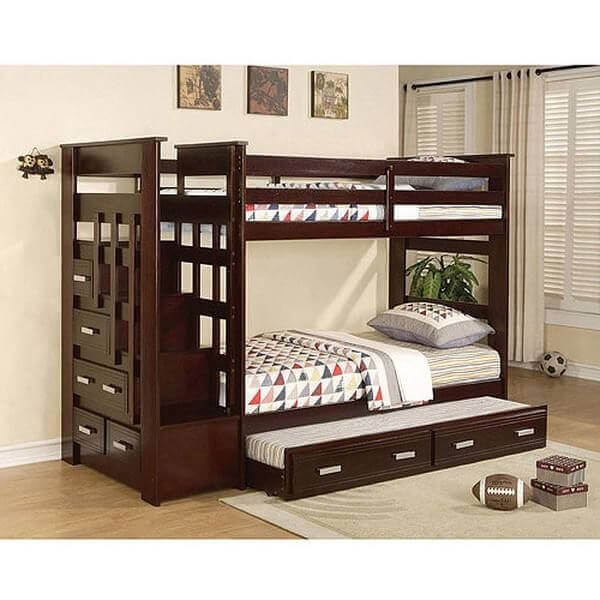 Mẫu 26 giường hai tầng, giường tầng thông minh