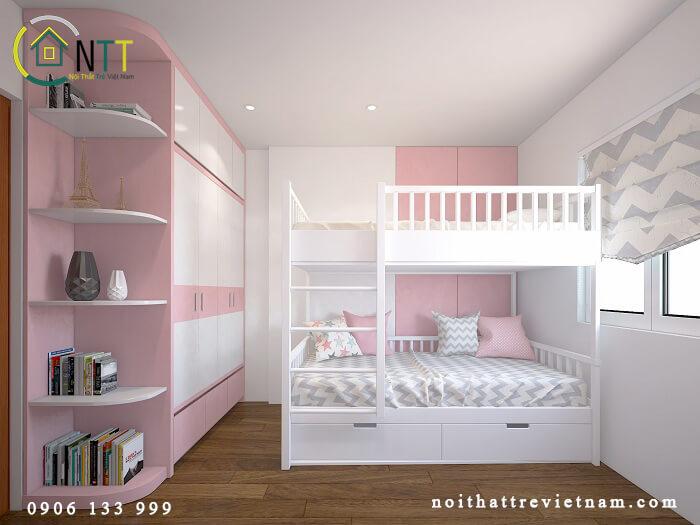 Mẫu 28 giường tầng cho bé gái