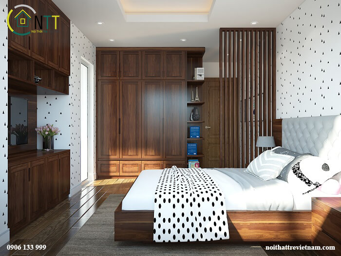 Mẫu 43 mua giường gỗ