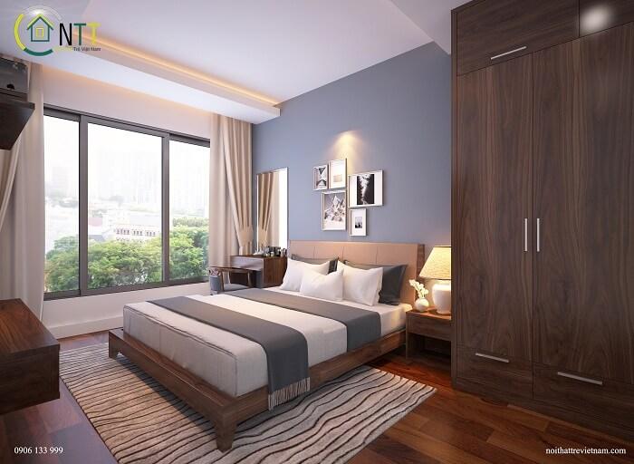 Mẫu 6 - Giường gỗ sồi Mỹ