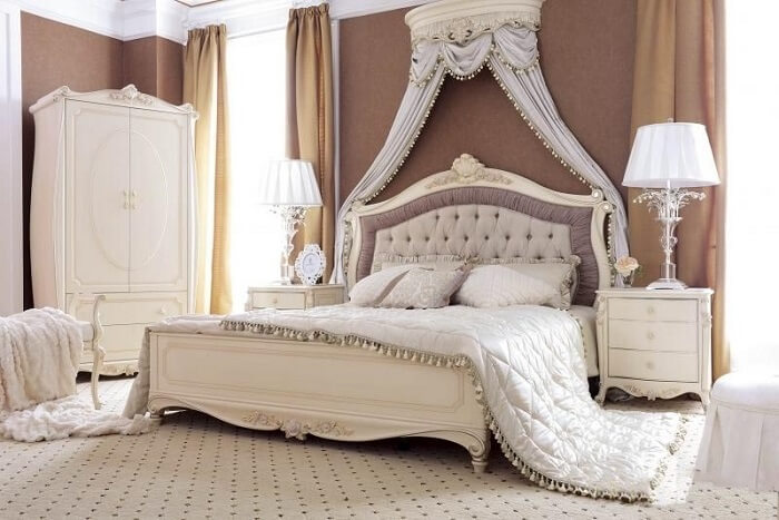 Nội thất phòng ngủ cổ điển kiểu Pháp