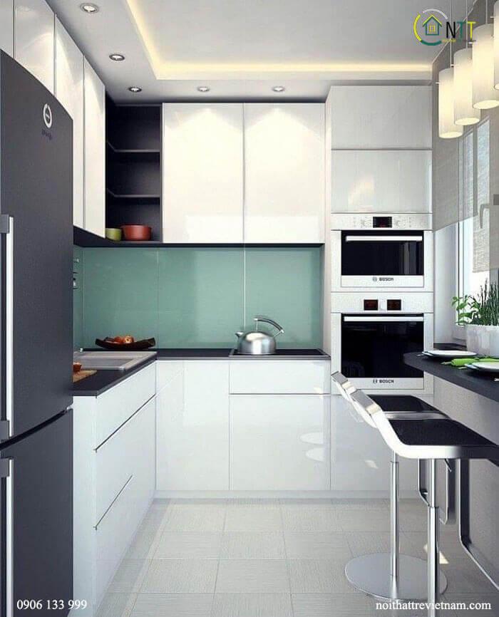 Các mẫu tủ bếp hình chữ l đẹp