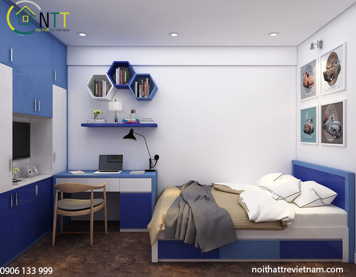26 Thiết kế phòng ngủ cho bé trai từ sơ sinh tới con trai lớn 15 tuổi