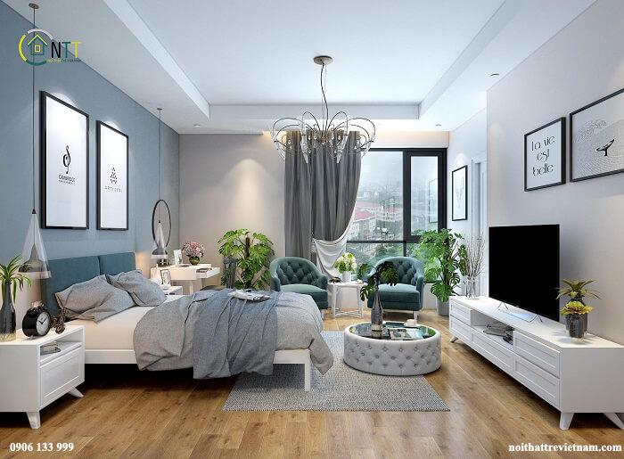 Mẫu 1 Thiết kế nội thất phòng ngủ đẹp