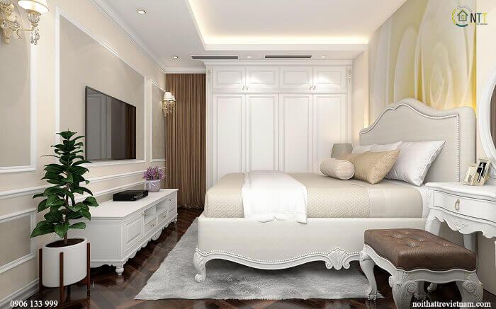Ảnh giường ngủ gỗ tự nhiên, gỗ sồi