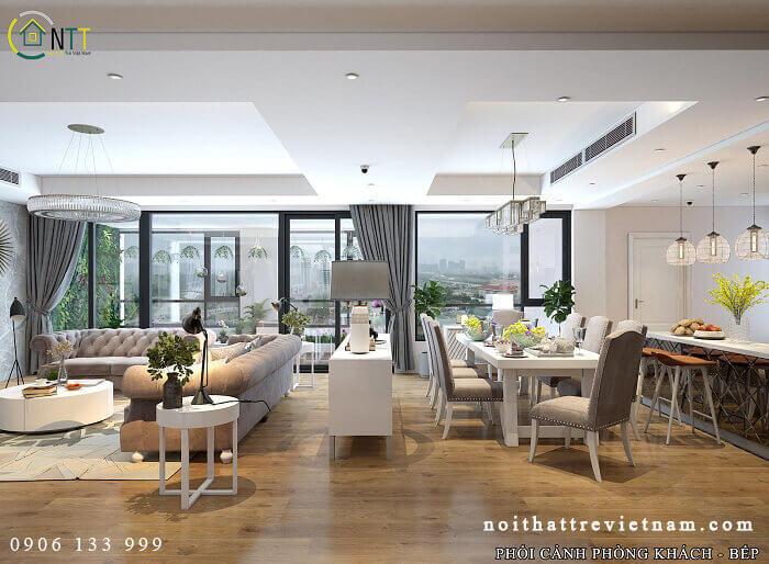 Thiết kế phòng ăn và bếp