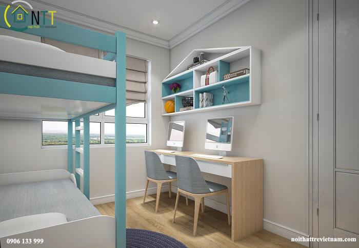 Thiết kế phòng ngủ 10m2 cho bé