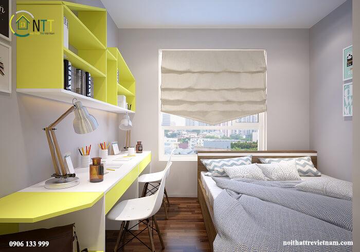 Thiết kế phòng ngủ cho học sinh