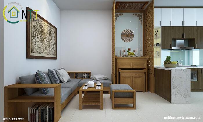Mẫu 6 Mẫu sofa gỗ chữ l đẹp