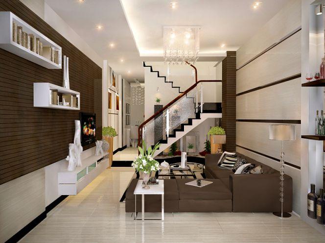 Nội thất cho phòng khách nhà ống nên đơn giản để tiết kiệm không gian