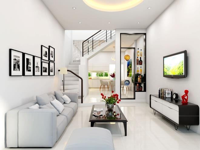 Chọn tông màu sáng để phòng khách thoáng hơn