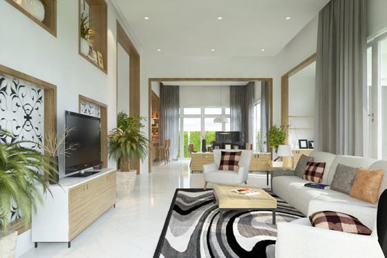 Cần tạo sự cân bằng về ánh sáng, đồ trang trí khi thiết kế nội thất nhà lô phố