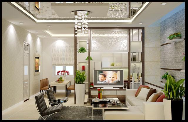 Nội thất phòng khách- phòng ăn của căn nhà cấp 4 giá 350 triệu