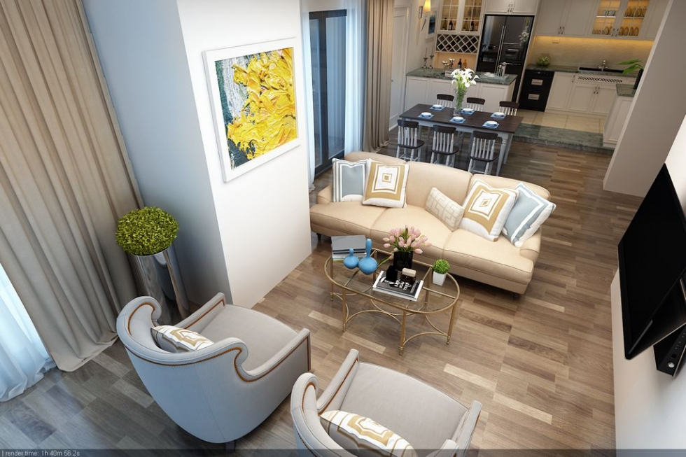 Tận dụng đối đa từng cm trong không gian của căn hộ chung cư cao cấp