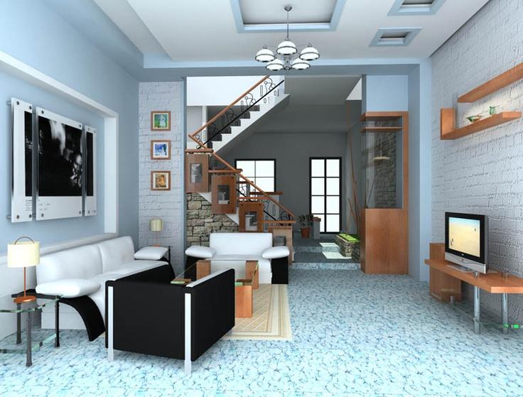 Màu sắc nội thất phòng khách nên cùng tông với thời gian