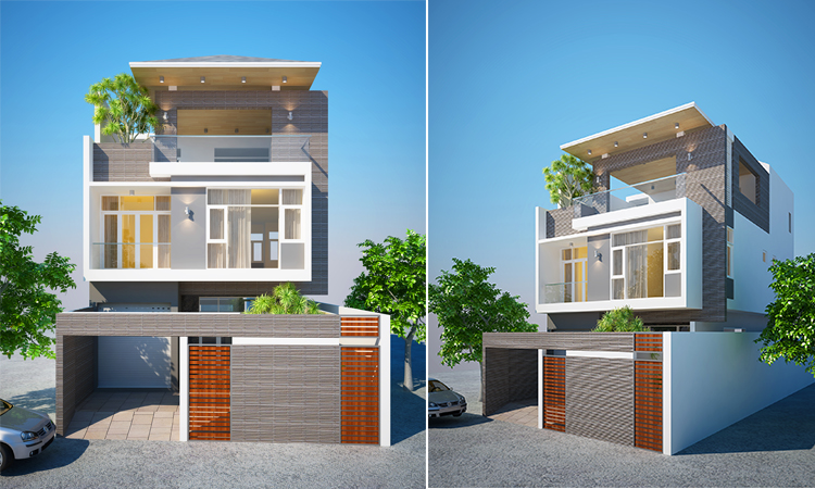 Mẫu nhà phố hiện đại được thiết kế tối giản và thông minh
