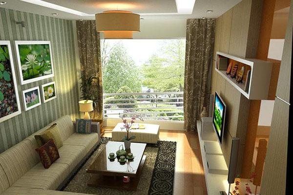 Phòng khách tận dụng tối đa không gian với thiên nhiên