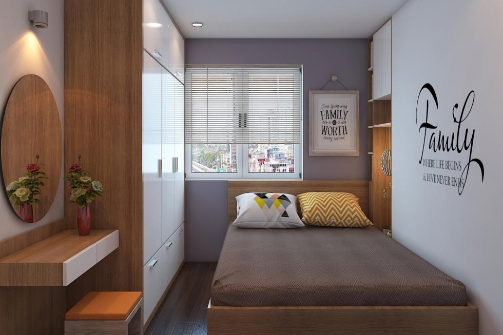 Mỗi nội thất phòng bếp + khách của căn chung cưu cao cấp 