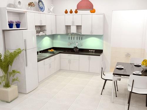 Thiết kế gian bếp căn nhà 350 triệu