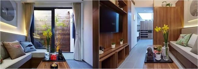 Không gian phòng khách đẹp tinh tế với nội thất gỗ