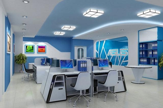 văn phòng có không gian xanh