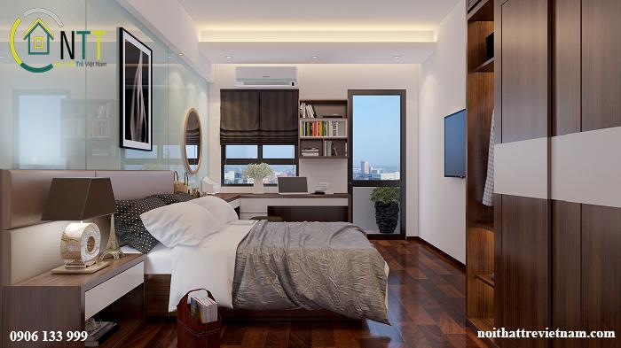 Nội thất phòng ngủ căn nhà chung cư số 5