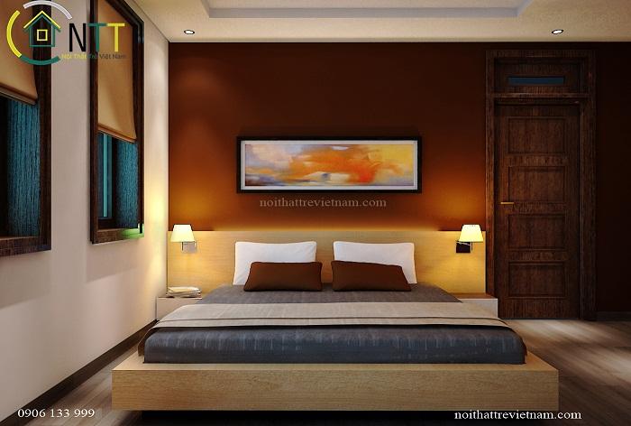 Phòng ngủ thứ 2 trong căn biệt thự anh Hiệp