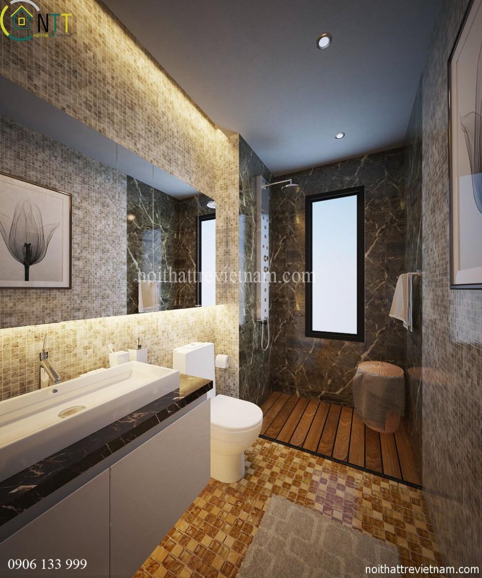  Không gian phòng tắm, wc sang trọng