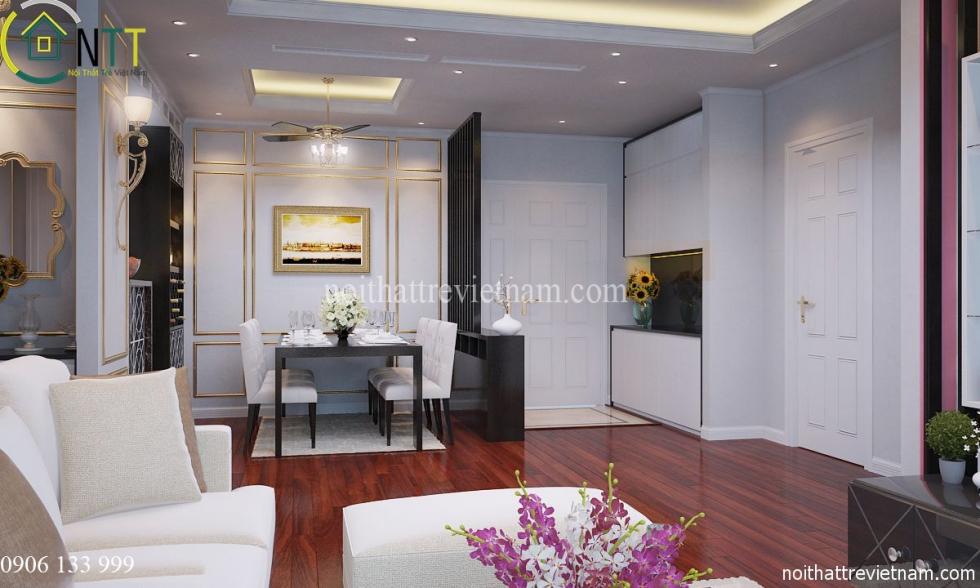 Phòng khách được thiết kế không gian mở tạo sự thông thoáng