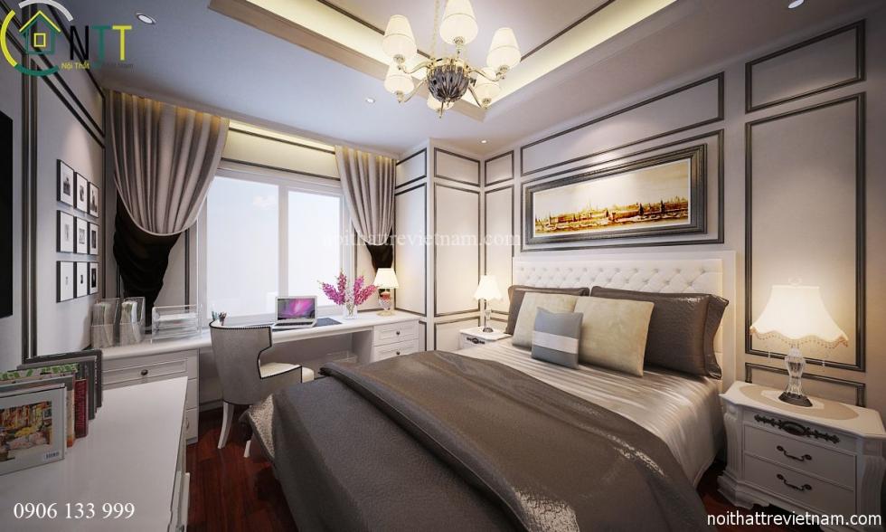 Nội thất phòng ngủ nhà chị Hoa