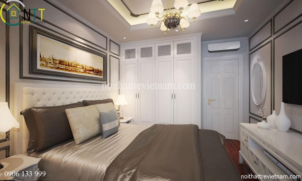 Phòng ngủ theo phong cách tân cổ điển sang trọng