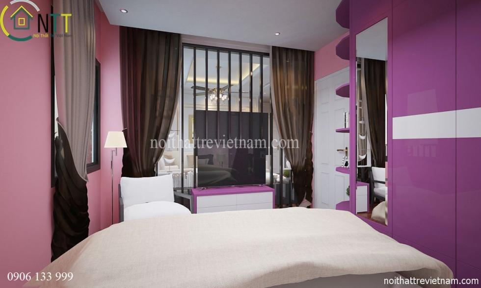 Nội thất phòng ngủ thứ hai theo phong cách hiện đại
