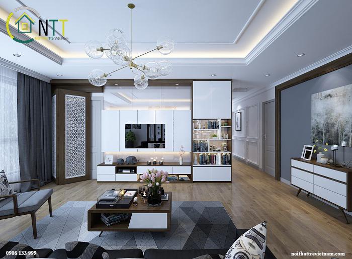 Mẫu thiết kế nội thất căn hộ chung cư anh Cường